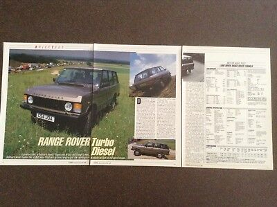 RANGE ROVER Turbo Diesel 1986 - Road Test Article - Motor Magazine 1986