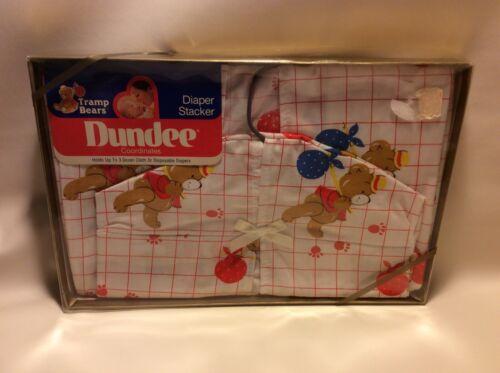 NEW vintage Tramp Teddy Bear Diaper Stacker Baby Boy Girl Cotton Dundee 3 doz