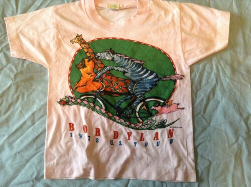 Bob Dylan Youth T-SHIRT Size 6-8  1978 US Tour VERY RARE! Never Worn or Washed