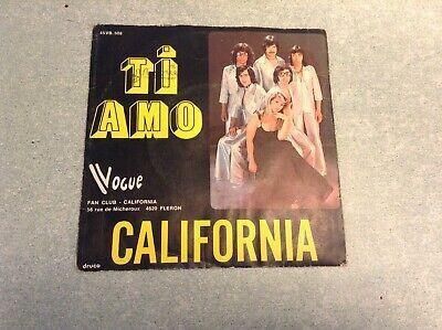 "Disque vinyle 45 tours ""B3M"" /california, ti amo"