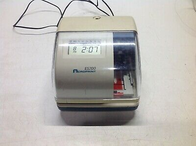 Acroprint Es700 Time Date Employee Time Recorder Clock - No Lock