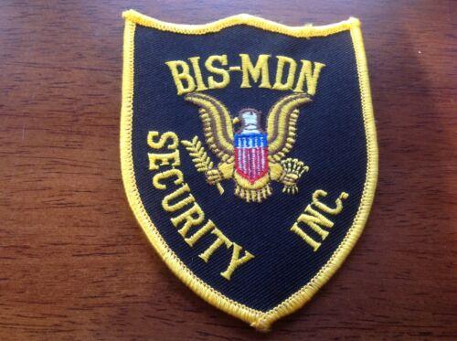 BIS-MDN Security Inc. Patch Bismarck-Mandan North Dakota Police Bismarck Mandan