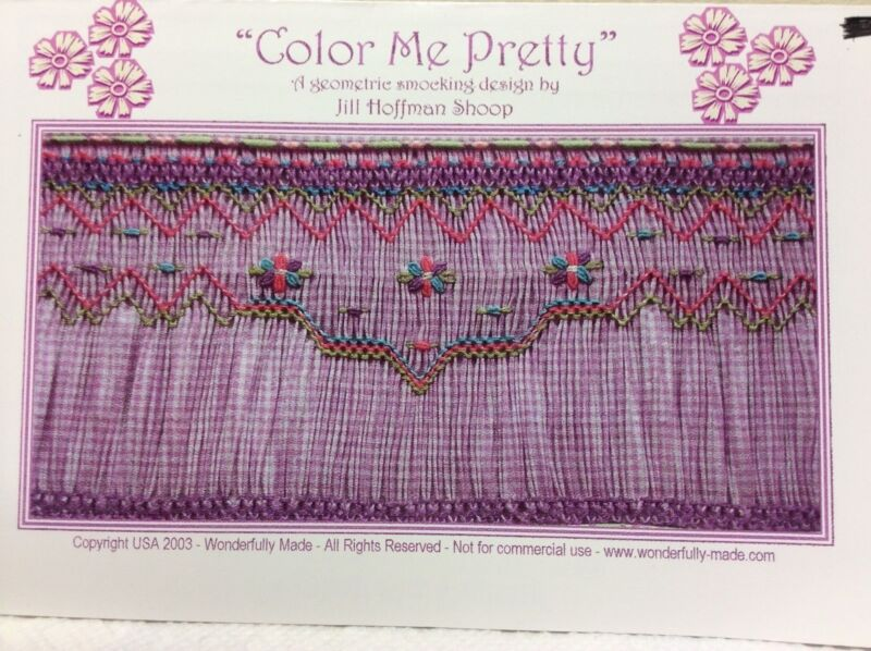 WONDERFULLY MADE SMOCKING PLATE - COLOR ME PRETTY
