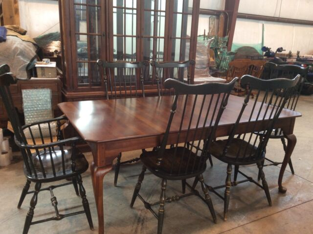 """bob timberlake solid cherry 45x76 extends 124""""dining table w 6"""