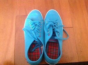 Blue Fred Perry Shoes