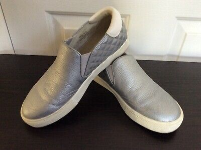 ASH 👟Jungle Platform Slip On Metallic Silver Slip On Sneakers - Size 37 Ash Slip On