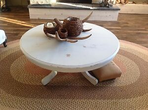 French country large round coffee table