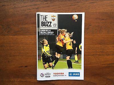 London Bees Ladies v Millwall Ladies 2016 Programme