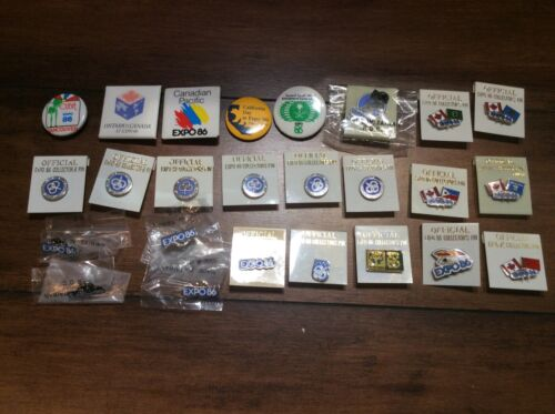 Expo 86 Pins Lot of 25 Volunteer Credit Union Canadian Pacific