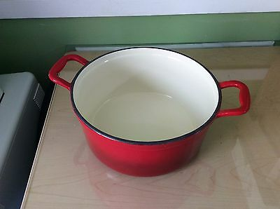 6qt Dutch Oven Enameled Cast Iron Round Best Cookware w/LID