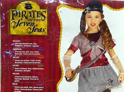 New Caribbean Pirate Queen Toddler Child Costume for Girl Halloween Size Small](Pirates Costumes For Toddlers)