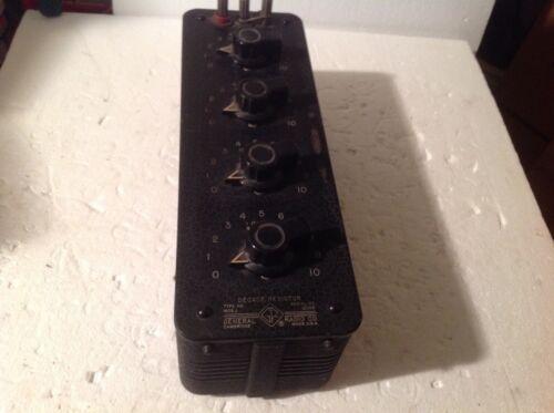 GENERAL RADIO DECADE RESISTOR TYPE 1432-JSERAIL #2035 used by IBM