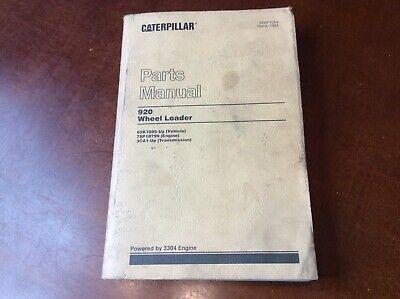 Cat Caterpillar 920 Wheel Loader Parts Manual Book Sn 62k07095-up