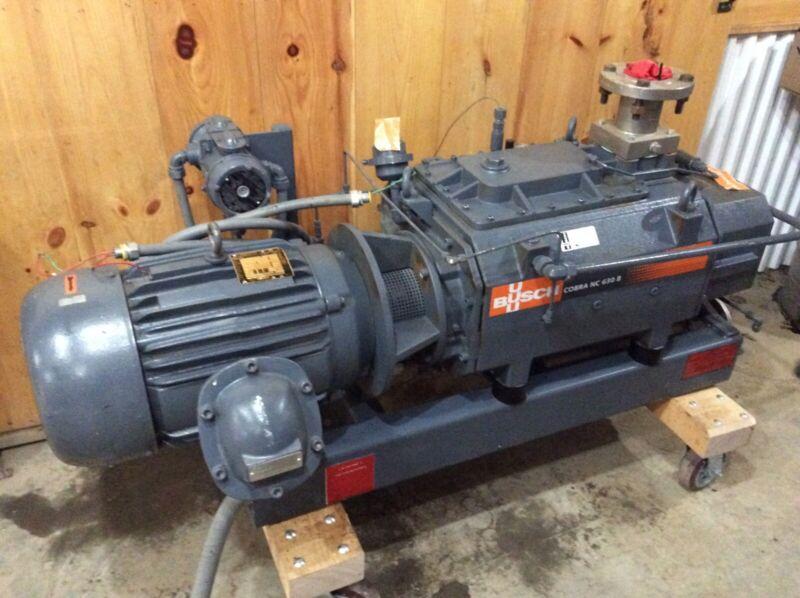 Busch Cobra NC630B 20 hp dry screw vacuum pump w/heat exchanger.
