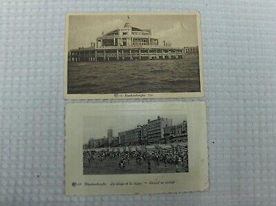 Vintage CPA : lot de cartes postales Blankenberghe état voir photos