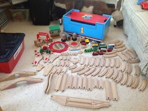 Thomas the Tank Engine wooden railway tracks and trains