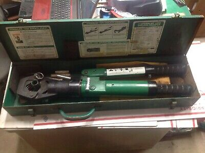 Tested Greenlee 1990 Dieless Hydraulic Cable Crimper Automatic Burndy 6240