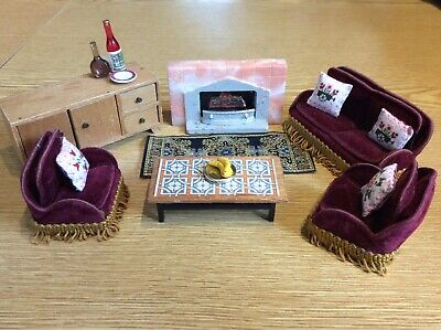 Vintage Dolls House 1/16 Lounge Furniture with Accessories