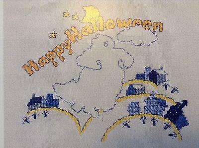 Happy Halloween counted cross stitch magazine pattern, Aida & floss - Halloween Counted Cross Stitch Kits