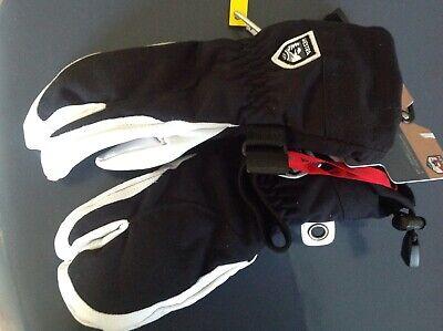 HESTRA Alpine Pro Heli Ski Female 3 Finger *Ski Mitt Leather Gloves Sizes 5 6 7*