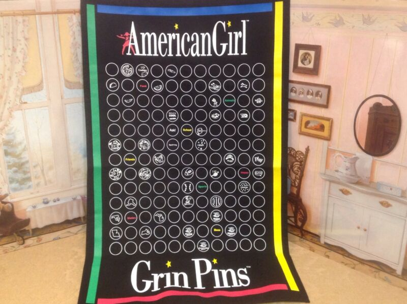 American Girl GRIN PIN CANVAS WALL HANGER BANNER  Slightly Used Cond.   Adorable