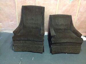 2 vintage 1960s arm chairs