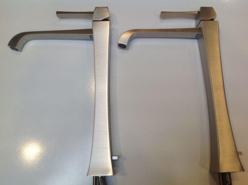 GESSI MIMI Brushed Nickel Mixer 11987 for bathroom vanity washbasin.