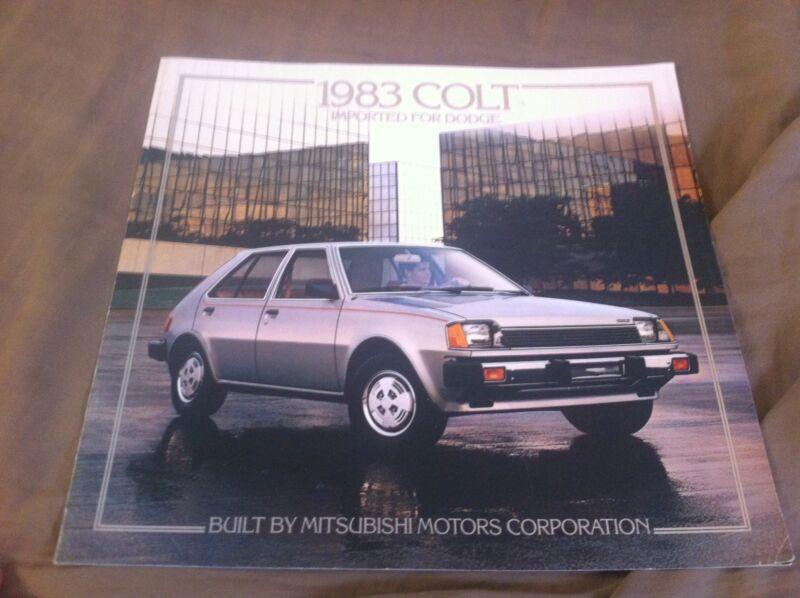 1983 Dodge Colt by Mitsubishi  Brochure Catalog Prospekt