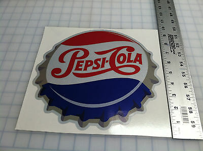 COCA COLA PEPSI COLA DECAL SODA CAP STICKER 10""