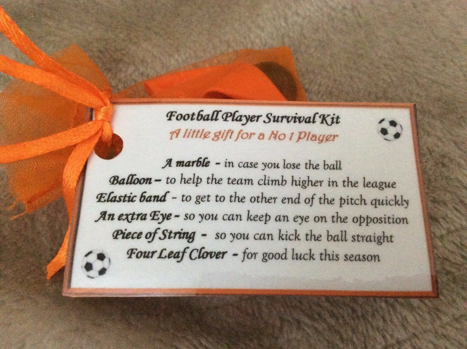 Details about Christmas gift idea for football footy lover team thank you  birthday gift him