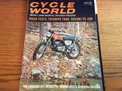 VTG CYCLE WORLD MAGAZINE MARCH 1969 ISSUE