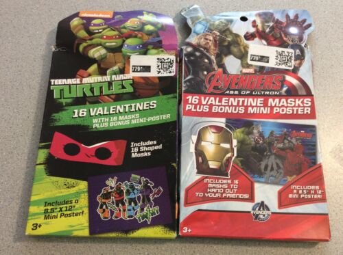 Ninja Turtles and Avengers Valentines with Masks Classroom Exchange