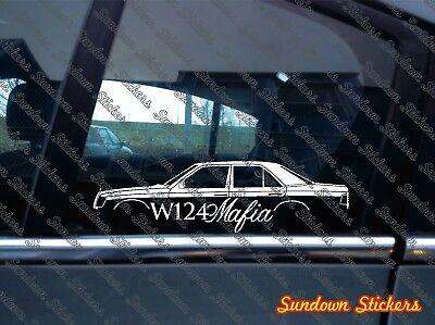 W124 MAFIA silhouette sticker -for Mercedes w124 E-Class sedan | classic
