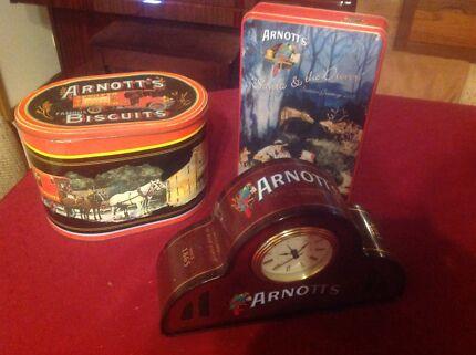 Arnotts tins including clock tin Kangaroo Flat Bendigo City Preview