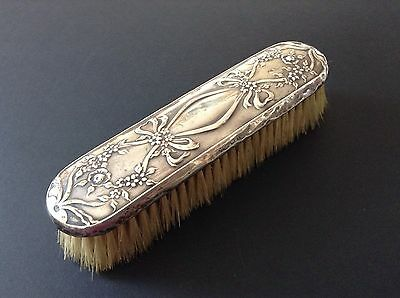 Antique Silver Backed Clothes Brush Hallmarked Birmingham 1910