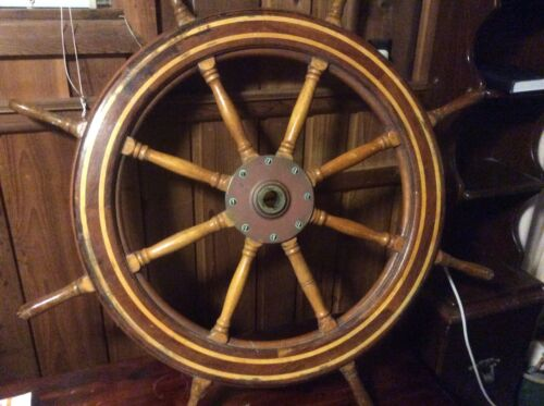SS Matsonia ex Britanis ex Monterey ex lurline steering wheel nautical antique
