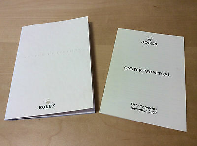 Vintage Catalogue Catalogue ROLEX Oyster Perpetual - price list 2002