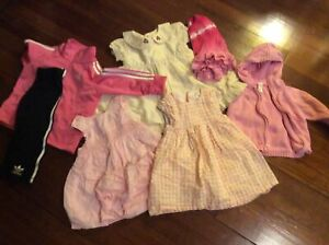Lot of baby girl clothes, size 6-12 months J