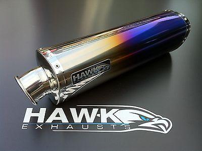 Hawk Honda CBR250r 2011+ Tri Oval Colour Titanium Exhaust Can SL