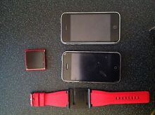 Two Apple IPhones and a IPod Nano 6 Gen Red 16gb Brisbane North East Preview