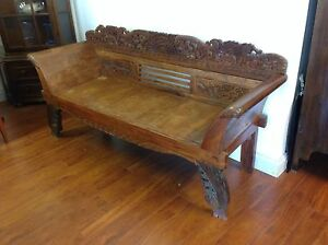 Timber Carved Couch Mulgrave Monash Area Preview