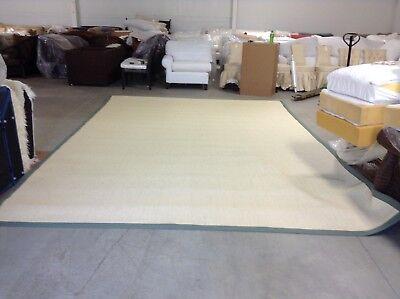 Ballard Designs Light Sisal Rug Indoor Area Carpet Rug Moss Border 10x14