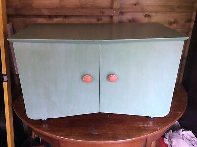 RECORD CABINET RETRO  FROM 1960's  IN RADIANT COLOURS WITH CHROME LEGS
