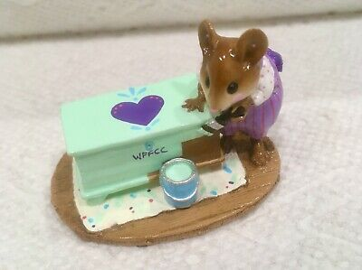 WEE FOREST FOLK BRUSHING UP LTD EDITION FTF EVENT PURPLE 2005 MINT WITH BOX
