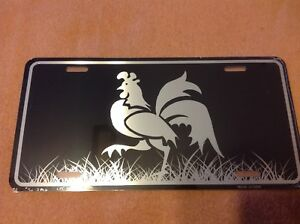 Rooster Black Wholesale Novelty License Plate Bar Wall Decor