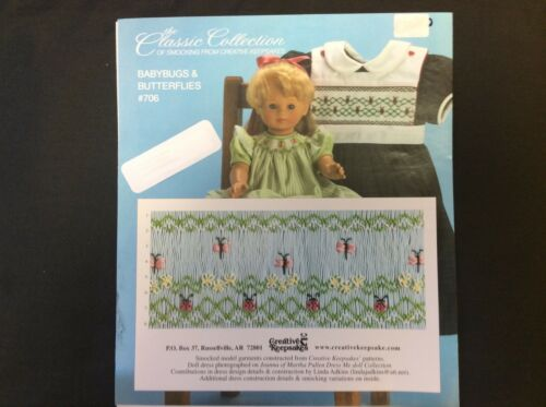 CREATIVE KEEPSAKES SMOCKING PLATE #706 BABYBUGS & BUTTERFLIES