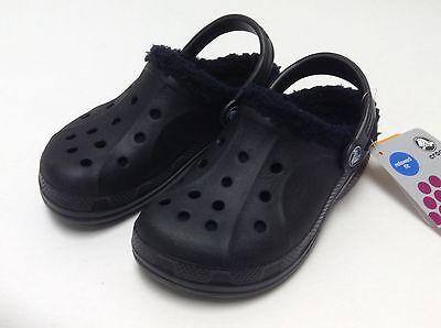 $35 Crocs Feat / Ralen Lined Kids Boys Black Black C8/9 CLEARANCE - Clearance Boys