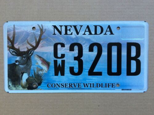 Nevada Conserve Wildlife License Plate 320B