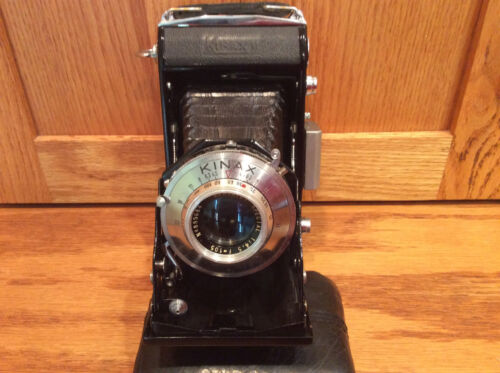 Folding 6x9 camera Kinax II  wi  Berthiot Special 4.5 F=105mm - Excellent