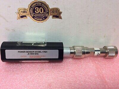 Wavetek 17501 Power Sensor .5-1500 Mhz Acterna K0175 Fixed Attenuator 75fp-020-2
